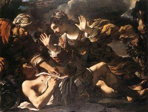 Muerte de Tancredo, por Le Gerchin.