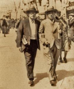 Webern y Schönberg paseando por Viena en los años 20.