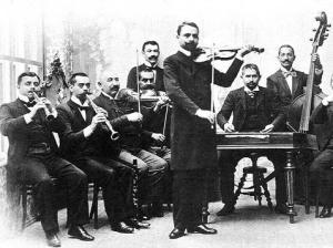 Banda gitana húngara hacia 1890.