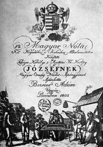 Banda de músicos gitanos en el frontispicio de una edición musical de 1805.