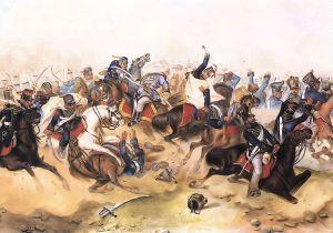Batalla de Tápióbicske [1849] entre el ejército independentista húngaro y el austríaco.