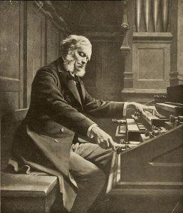 César Franck en el órgano de Ste.-Clotilde de París.