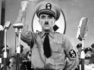 """Imagen de """"El gran dictador"""" [1940] de Charlie Chaplin."""