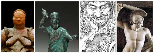 Las estirpes del mito: La diosa madre, el dios guerrero, gigantes y enanos, héroes.