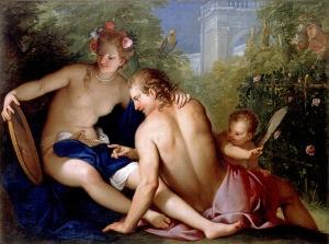 Rinaldo y Armida, en un óleo de Antonio Belluci.