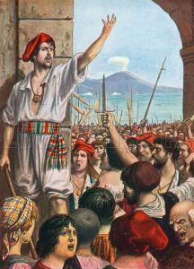 Masaniello, líder de la revuelta napolitana que acabó con la instauración de la efímera República Napolitana de 1647.