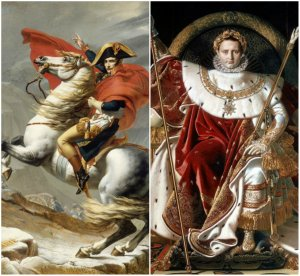 Napoleón Bonaparte, como cónsul y como emperador de Francia.