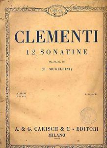 Portada de una edición de las Sonatinas op.36 de Clementi.