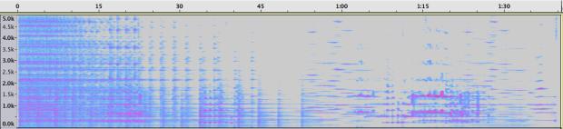 Espectrograma de la Sección 1.