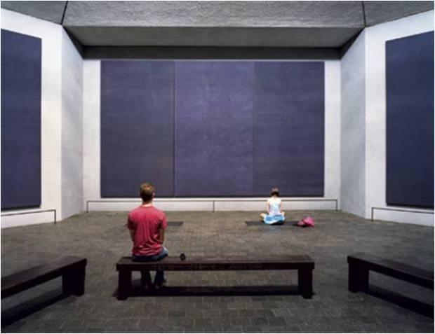 Tríptico central de la Capilla Rothko.