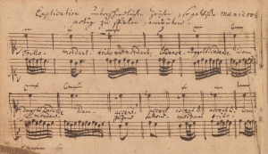 Explicación de las ornamentaciones en el Klavierbüchlein [1721].