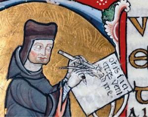 Representación del obispo y teólogo Pedro Lombardo.