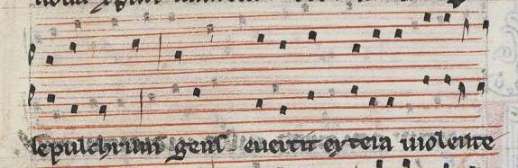 """Conductus """"Crucifigat omnes"""", según W2, 111v-112v (cont.)."""