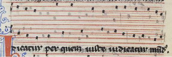 "Conductus ""Crucifigat omnes"", según W2, 111v-112v (final)."