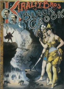 Cartel del espectáculo The black crook, estrenado en Nueva York en 1866.