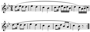 El periodo binario por antonomasia: El Andante con variaciones del Divertimento en Si bemol mayor Hob.II.46 de Joseph Haydn.