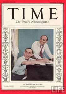Richard Rodgers y Lorenz Hart en la portada de la revista Time del 26 de septiembre de 1938.