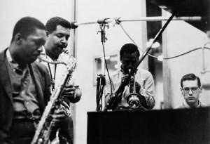 New York, 1958. Miles Davis junto a John Coltrane, Cannonball Adderley y Bill Evans.